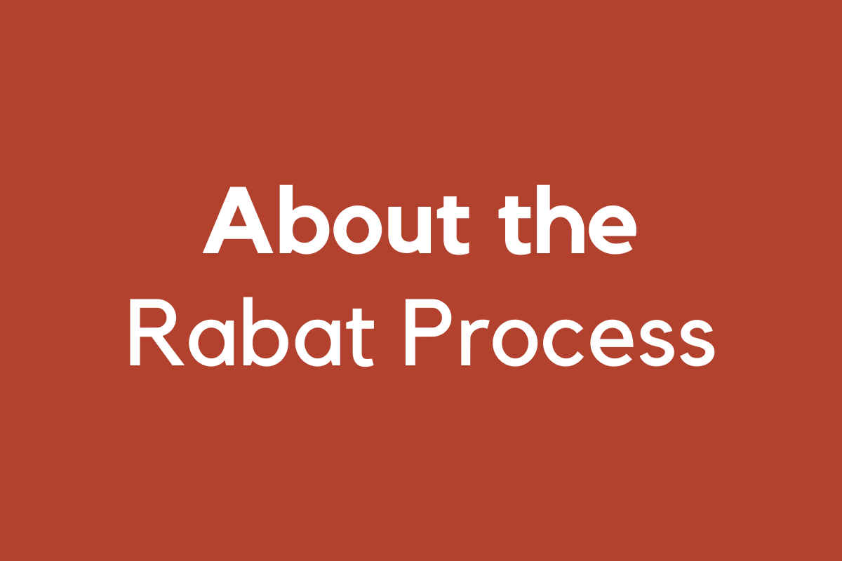 The Rabat Process