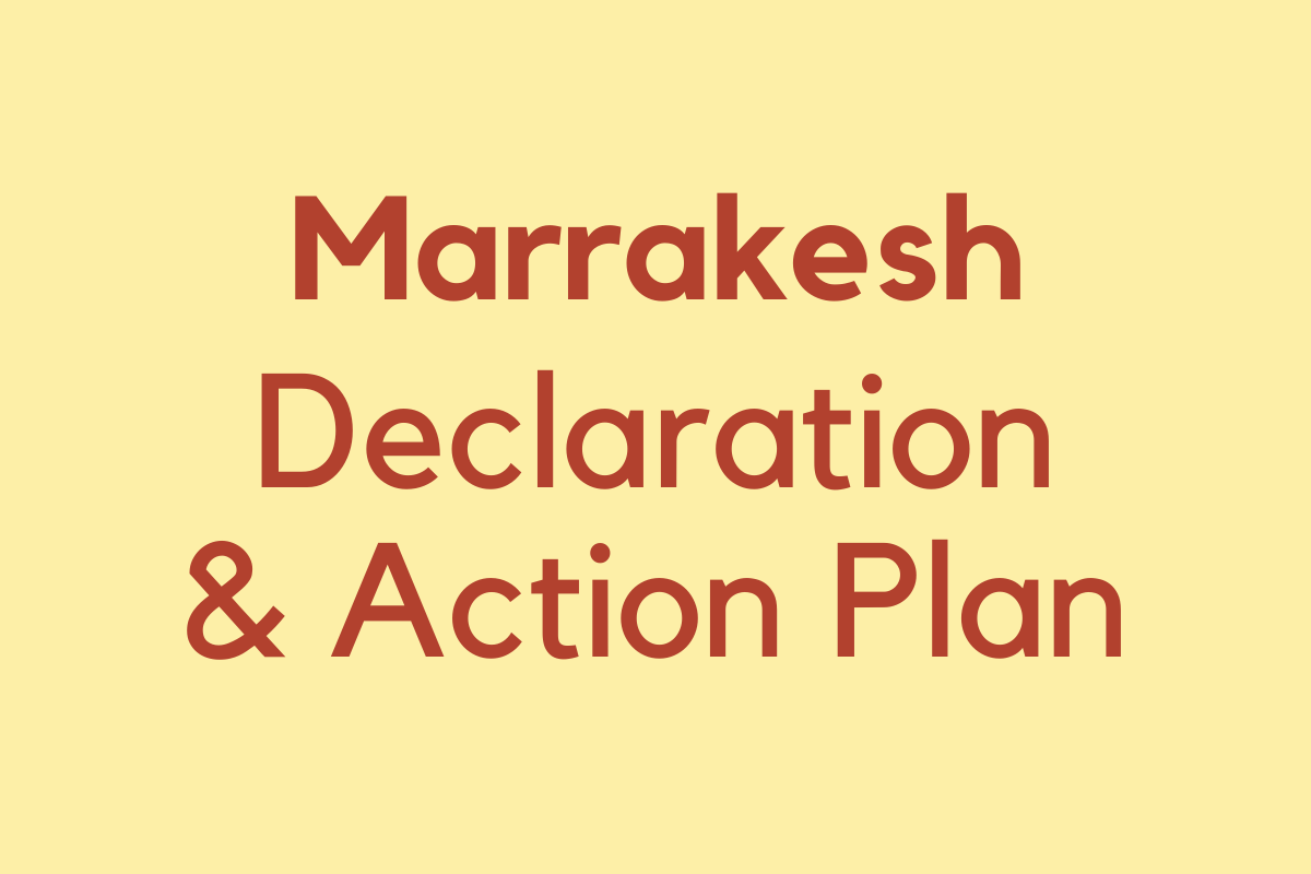 Marrakesh Political Declaration and Action Plan