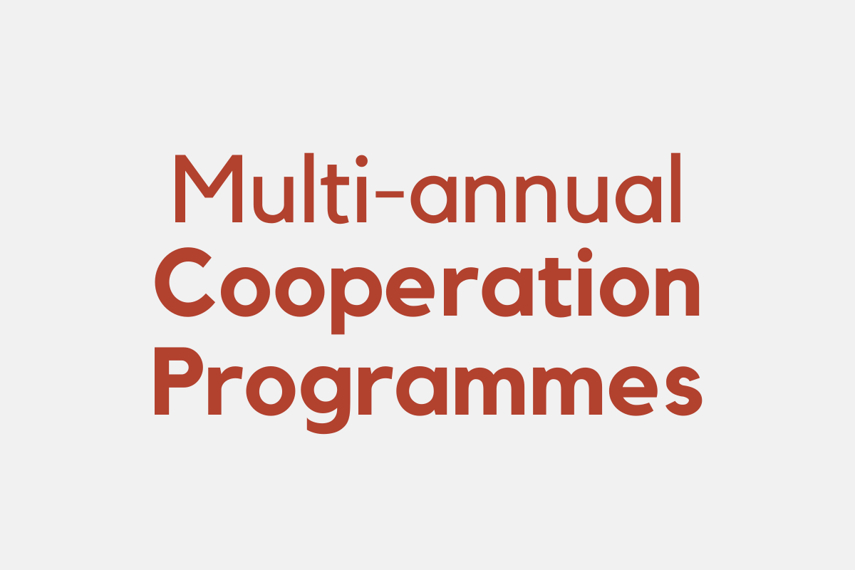 Multi-annual cooperation programmes